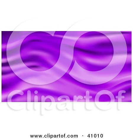 Clipart Illustration of a Background Of Purple Wavy Silk by Tonis Pan