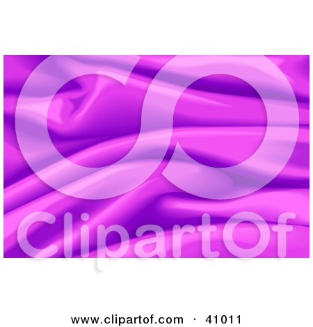 Clipart Illustration of a Background Of Purple Wavy Satin by Tonis Pan
