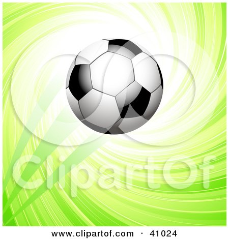 Clipart Illustration of a Black And White Soccer Ball Resting In ...