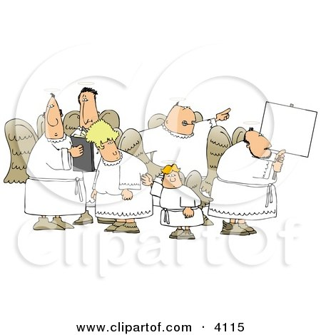 Group of Male and Female Angels Clipart by djart