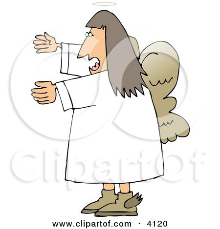 Female Angel Yelling Clipart by djart