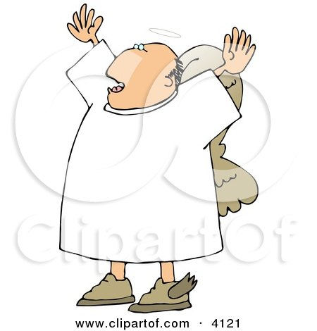 Preaching Angel Clipart by djart