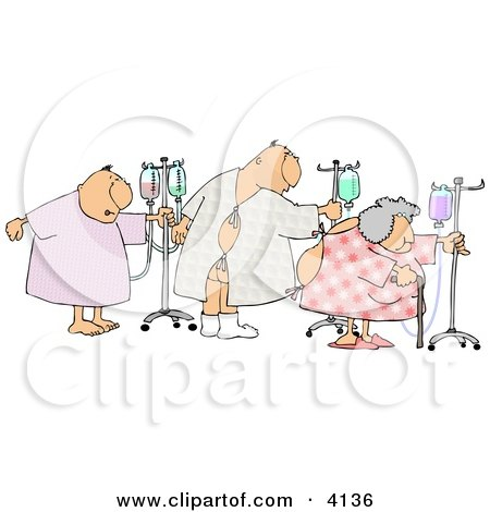 Cartoon Black And White Outline Design Of A Sick Woman In Bed Poster Art Print 1047889 on Veterinary Hospital Decor