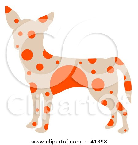 Beige Profiled Chihuahua Dog With Orange Spots Posters, Art Prints