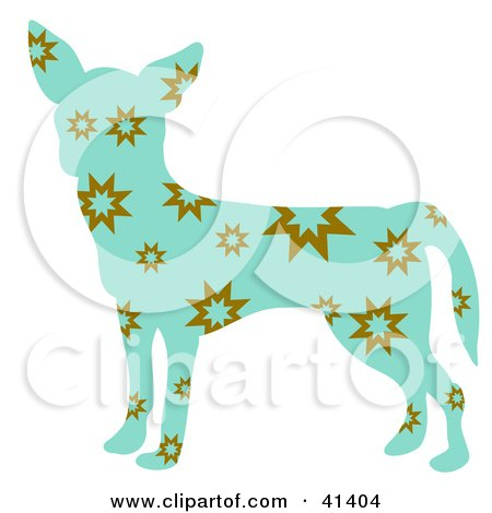 Blue Profiled Chihuahua Dog With Brown Bursts Posters, Art Prints