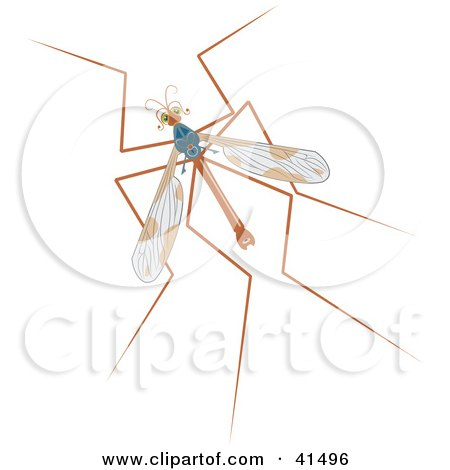 Clipart Illustration of a Mosquito Hawk by Prawny