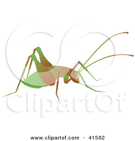 Clipart illustration of a cricket silhouetted in black by for Grasshopper tattoo supply