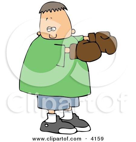 Boy Wearing Boxing Gloves Clipart by djart