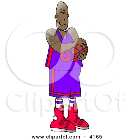 Professional African American Basketball Player Posters, Art Prints