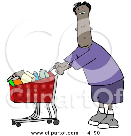 Ethnic Man Grocery Shopping at His Local Food Store Posters, Art Prints