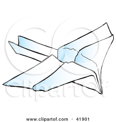 Clipart Illustration of a Flying Paper Jet by Snowy