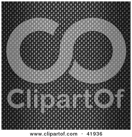 Clipart Illustration of a Gradient Carbon Fiber Texture Background by Arena Creative