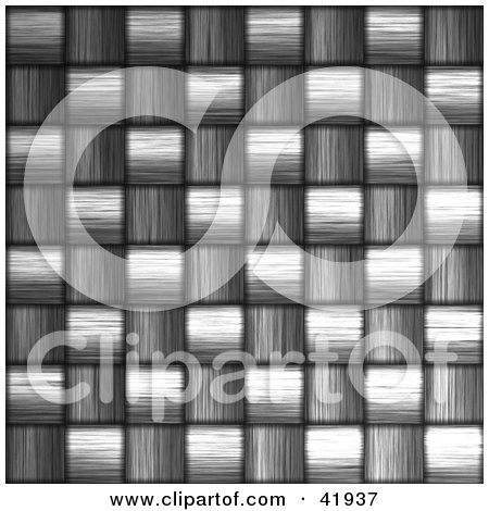 Clipart Illustration of a Closeup Carbon Fiber Background by Arena Creative