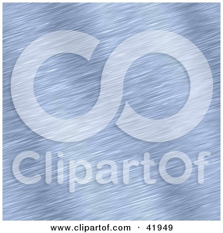 Clipart Illustration of a Brushed Blue Aluminum Background by Arena Creative