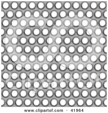 Clipart Illustration of a Steel Grate Background With Holes by Arena Creative