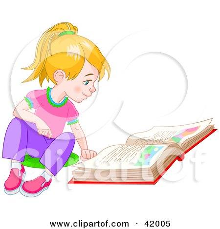 Cartoon Girl Sitting On The Floor. Girl Sitting On The Floor