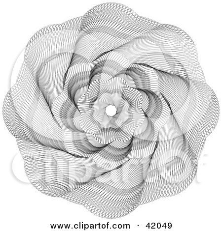 Clipart Illustration of an Ornate Guilloche Design Spiraling Out From The Center by stockillustrations
