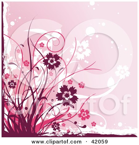 Flower Backgrounds on Illustration Of A Grunge Maroon And Pink Floral Background By L2studio