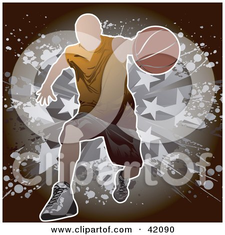Man Running Forward With A Basketball Posters, Art Prints