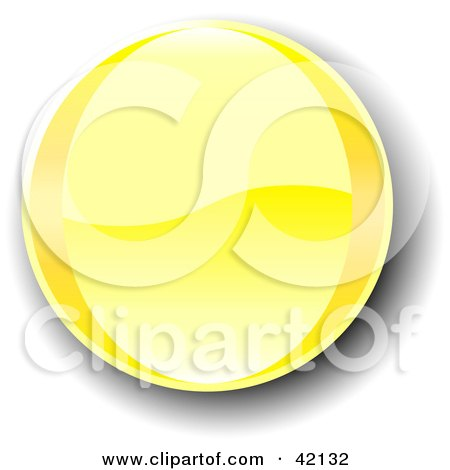 Clipart Illustration of a Yellow Shiny Website Button With Shading by MacX