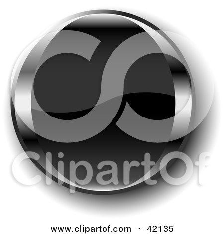 Clipart Illustration of a Black Shiny Website Button With Shading by MacX