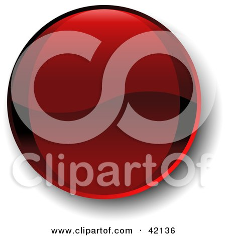 Clipart Illustration of a Deep Red Shiny Website Button With Shading by MacX