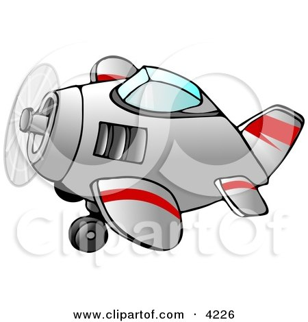 Propelled Airplane in Flight Clipart by djart