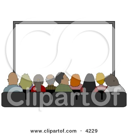 Audience Sitting In Their Seats At The Movie Theatre Clipart