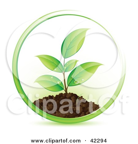 plant clip art. Clipart Illustration of a