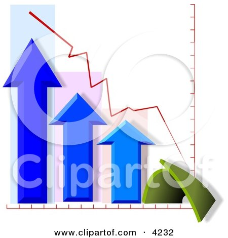 Bad Fourth (4th) Quarter Chart/Graph Clipart by djart
