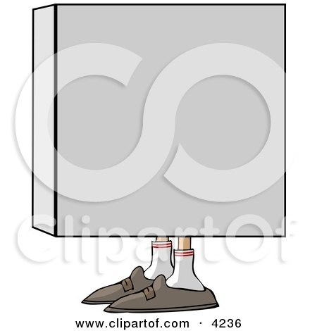 Man In a Box Clipart by djart