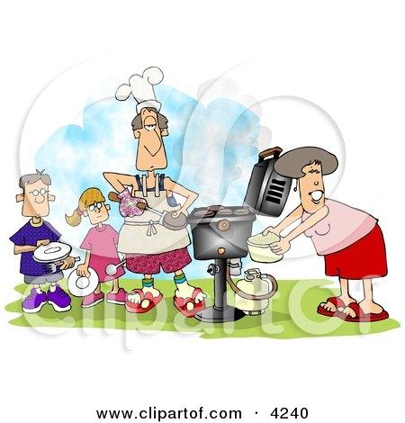 Family BBQ Clipart by djart