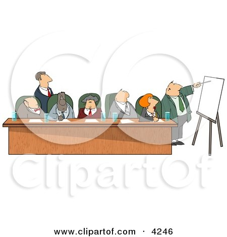 Businessmen and Businesswomen During a Business Meeting Posters, Art Prints