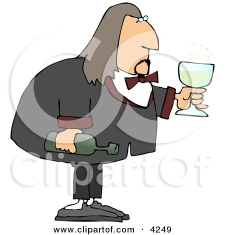 Male Waiter Serving Wine in a Glass Posters, Art Prints
