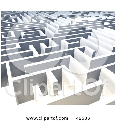 Clipart Illustration of Walls Of A Vast Labyrinth by MacX