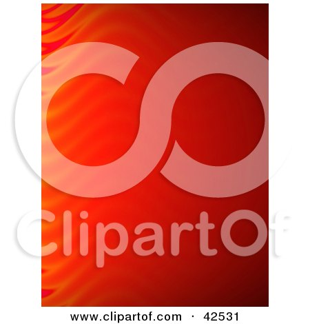 Clipart Illustration of a Red Vertical Background With Faint Flames On The Left Edge by Arena Creative