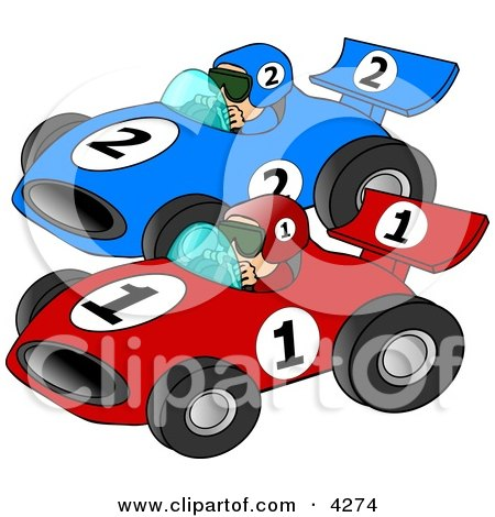 Royalty-Free (RF) Race Car Clipart, Illustrations, Vector Graphics #1
