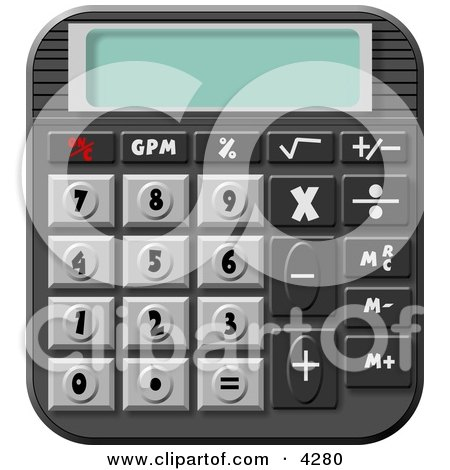 Standard Electronic Calculator Clipart by djart