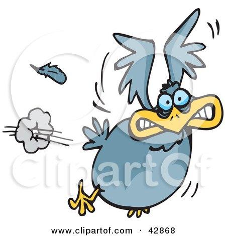 Royalty Free Rf Frightened Bird Clipart Illustrations