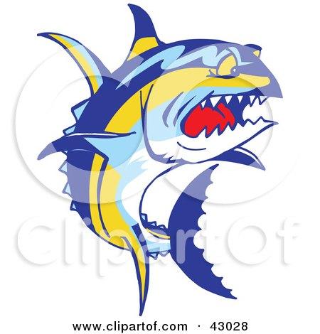 43028-Clipart-Illustration-Of-A-Tough-Yellowfin-Tuna-Fish-Thunnus-Albacares.jpg