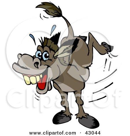 Donkey Kick Clipart Stubborn Kicking Donkey