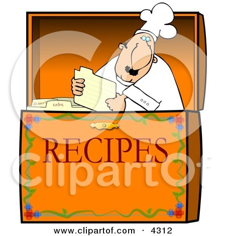 Food Recipe Box Clipart by djart