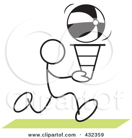 Royalty-Free (RF) Clipart Illustration of a Stickler Man Doing A Cone Race - 3 by Johnny Sajem