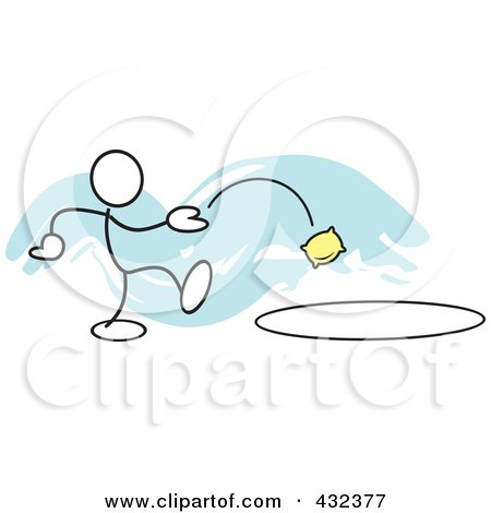 Royalty-Free (RF) Clipart Illustration of a Stickler Man Tossing A Bag ...