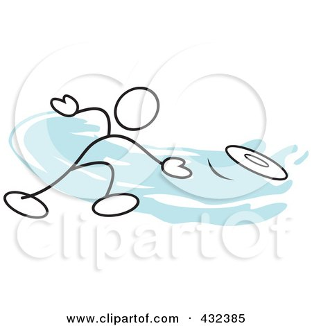 Royalty-Free (RF) Clipart Illustration of a Stickler Man Throwing A Frisbee - 1 by Johnny Sajem