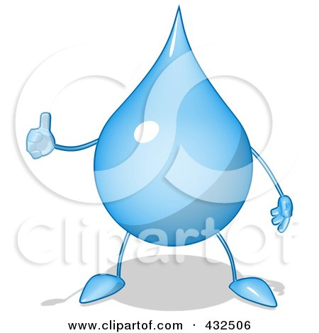 Royalty-Free 3d Clip Art Illustration of a 3d Water ...