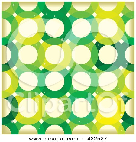 Royalty-Free (RF) Clipart Illustration of a Grungy Green Circle Pattern Background by michaeltravers