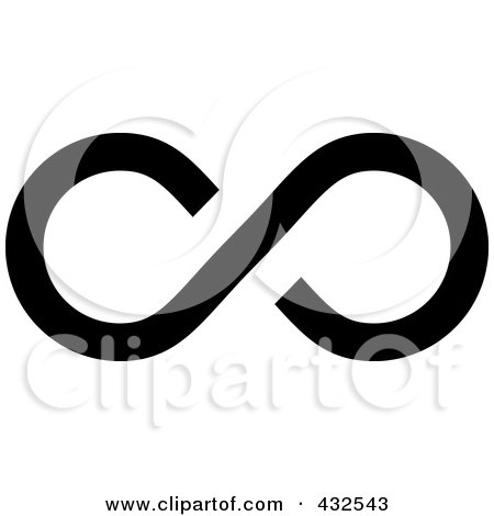 Royalty-Free (RF) Clipart Illustration of a Black Infinity Symbol - 2 by michaeltravers