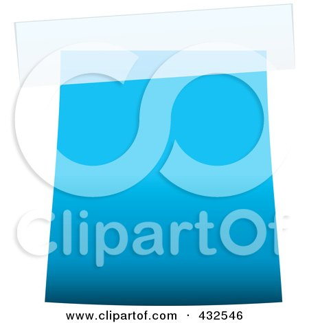 Royalty-Free (RF) Clipart Illustration of a Blank Blue Label With Tape - 1 by michaeltravers