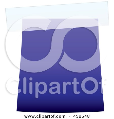 Royalty-Free (RF) Clipart Illustration of a Blank Blue Label With Tape - 2 by michaeltravers